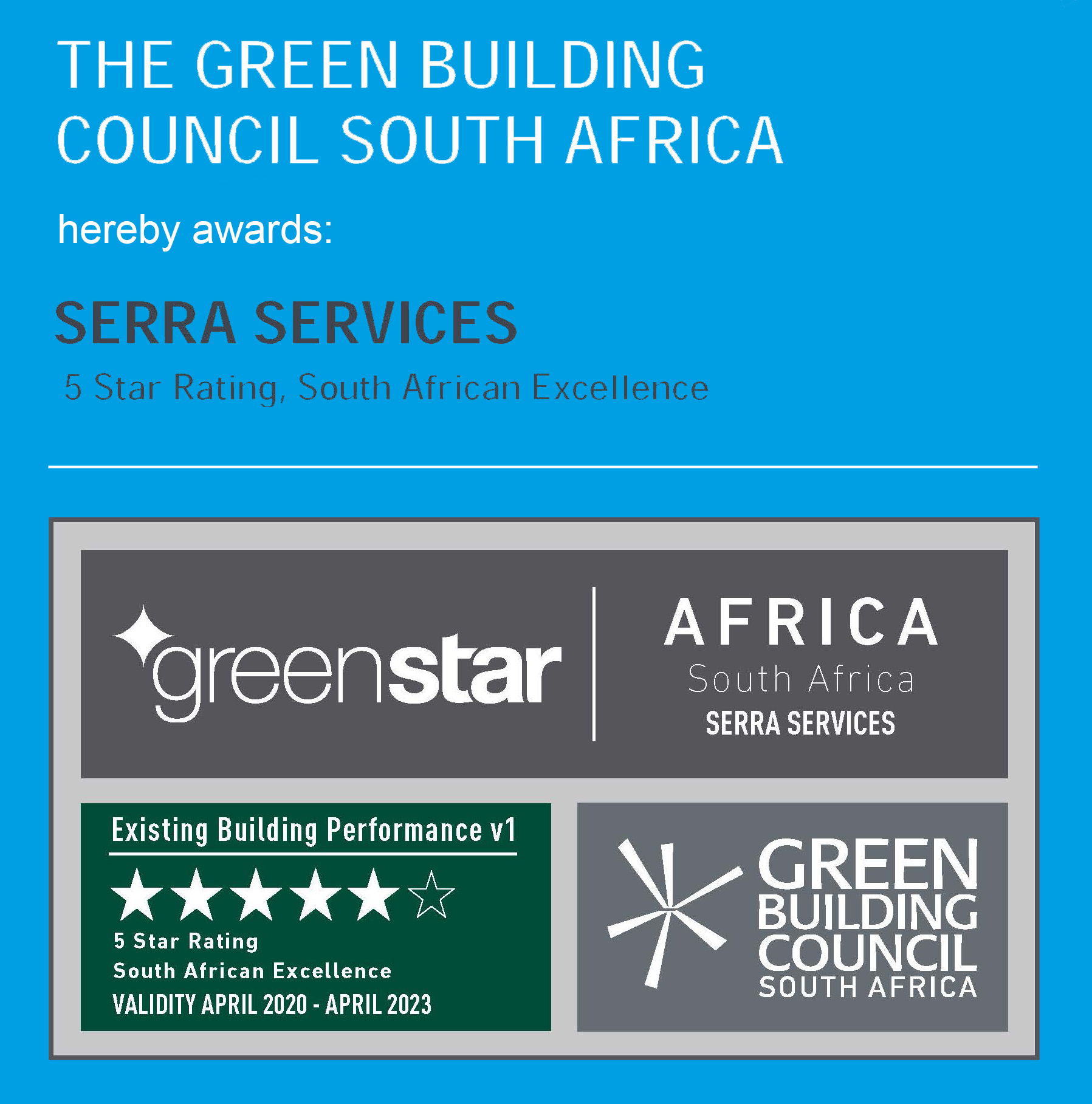 Serra Services 5 Star Green Rating